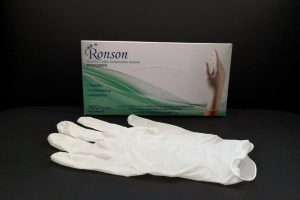 Ronson (100PCS) Powdered Premium Latex Disposable Gloves #922001