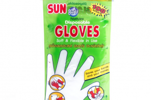MC-312 Sunbrite (24PCS) Polyethylene Plastic Disposable Gloves #923003
